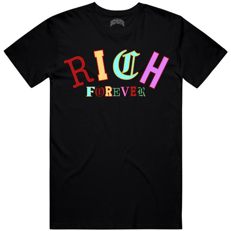 Old English Tee (Black) | Rich Forever