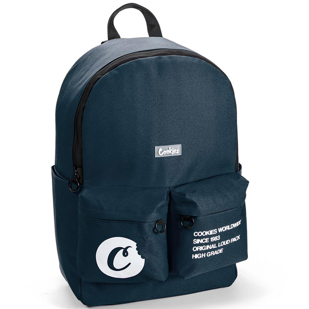 Orion Canvas Smell Proof Backpack (Navy) | Cookies SF Clothing
