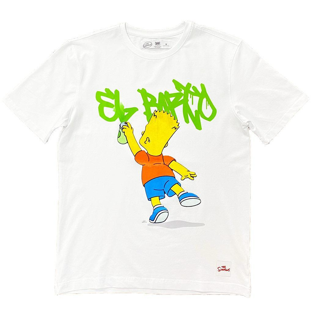 El Barto Graffiti Tee (White) | Freeze Max