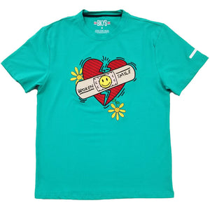 Broken Smile Tee (Dark Mint)