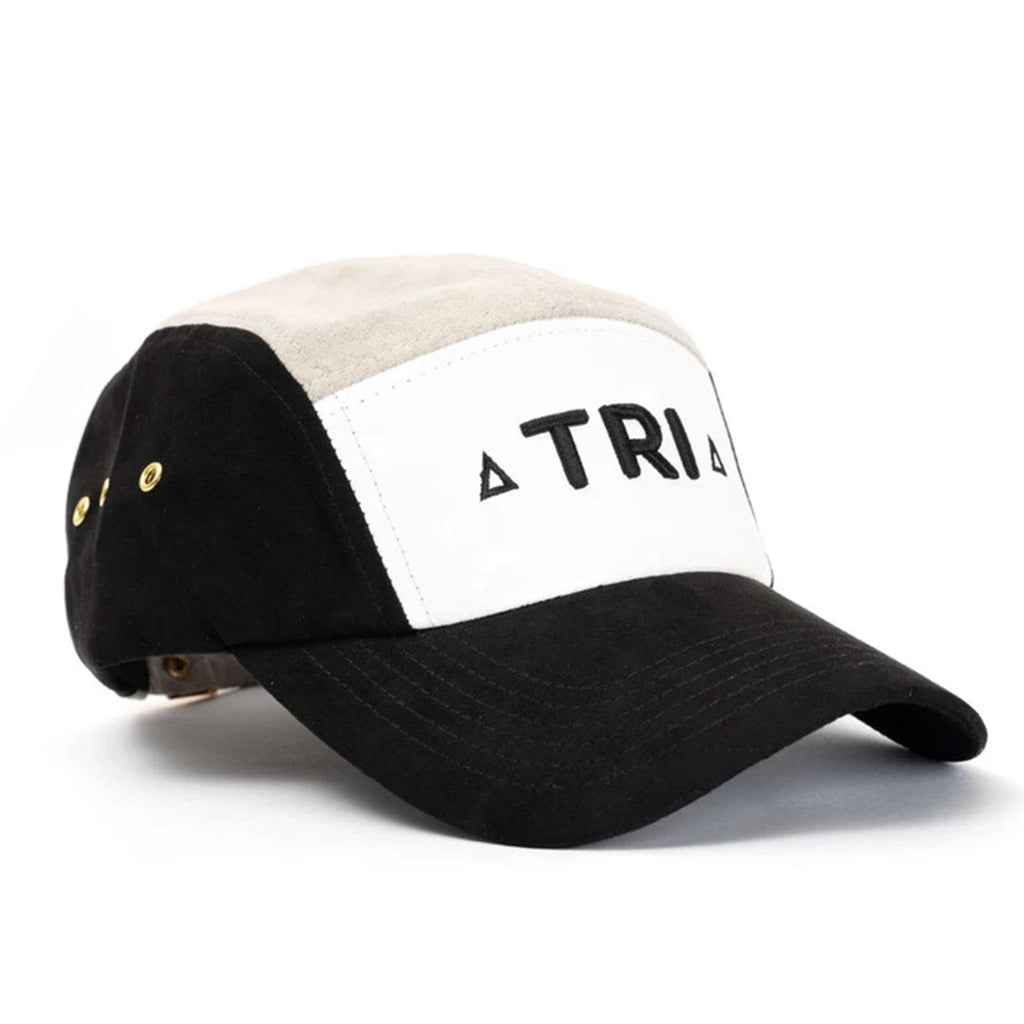 Tri 5 Panel Hat (Black/Grey) | Triangulo Swag - Urban Street Wear