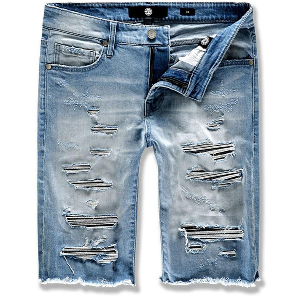 Abyss Denim Shorts (Medium Blue) | Jordan Craig