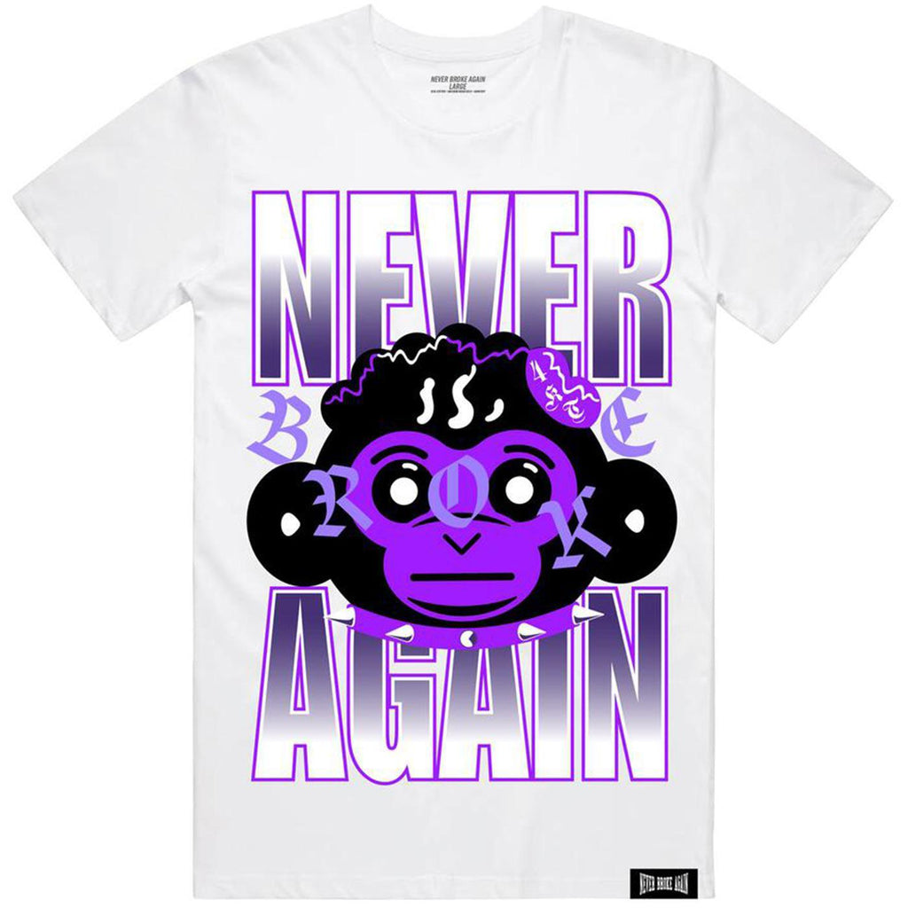 Purple Monkey Head Tee (White)