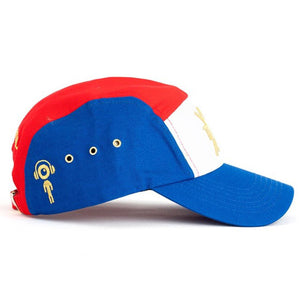 Tri 5 Panel Hat (Blue/Red) Side | Triangulo Swag