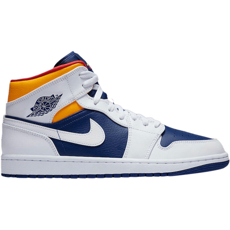 Air Jordan 1 Mid 'White Deep Royal Blue'