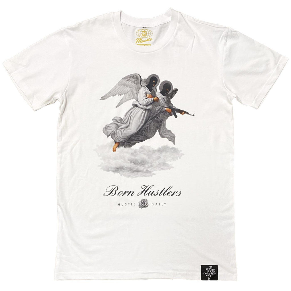 Born Hustlers Coronation Tee (White)