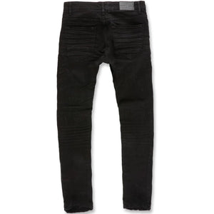 Sean Skinny Denim (Jet Black) | Jordan Craig Rear View