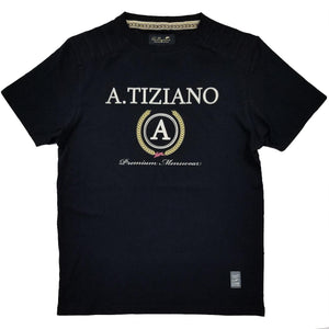 Phillips Short Sleeve Knit Logo Tee | A. Tiziano