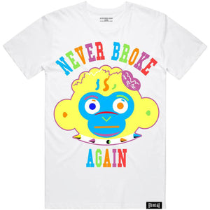 Monkey Head Colorful Tee (White) | Never Broke Again Youngboy