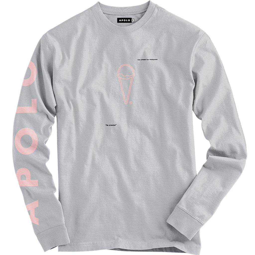 ICFE Long Sleeve Tee (Grey) | Apolo Apparel