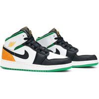 Air Jordan 1 Mid GS 'Lucky Green Laser Orange'