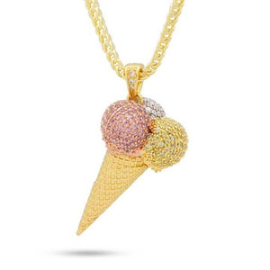 The Ice Cream Necklace Close Up | King Ice