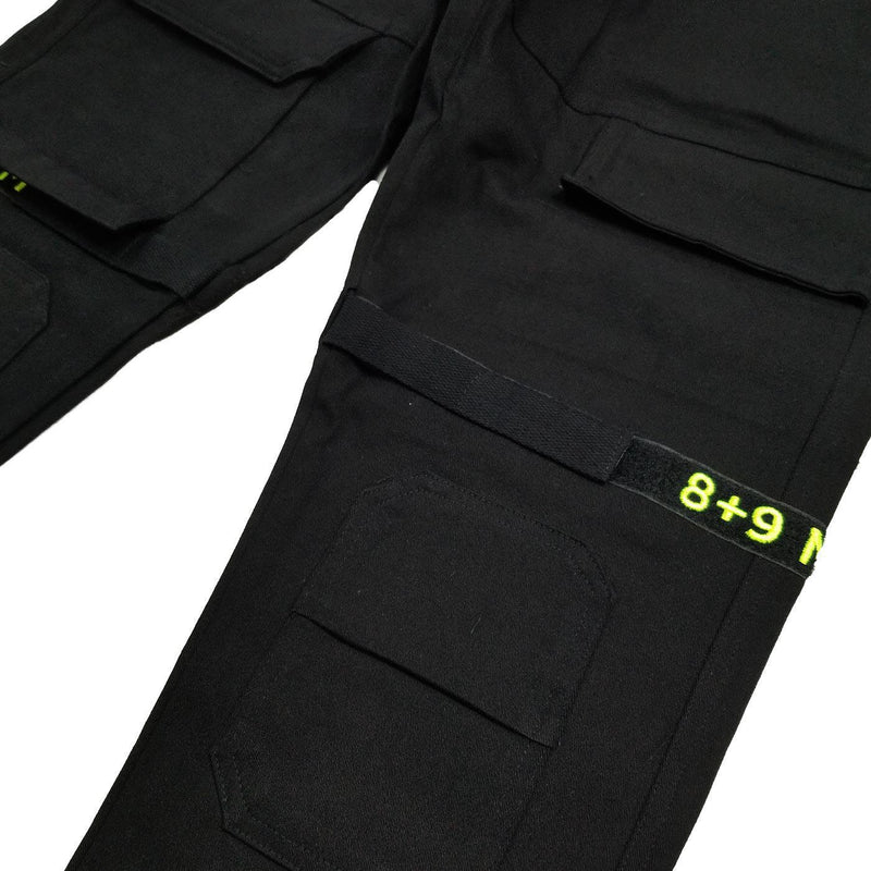 Strapped Up Slim Utility Pant (Black/Volt)