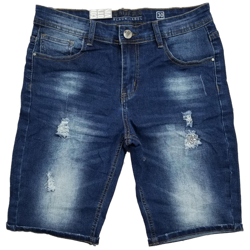Tapered Blue Jean Shorts