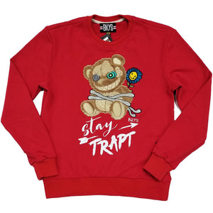 Stay Trapt Crewneck (Red) | BKYS