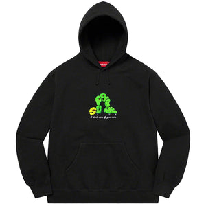 Don't Care Hooded Sweatshirt (Black) | Supreme