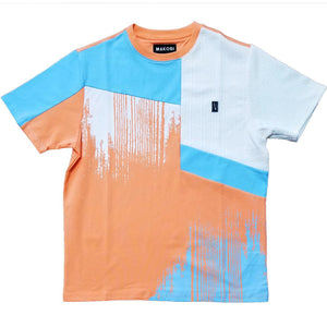 Static Jacquard Tee (Peach) | Makobi Clothing