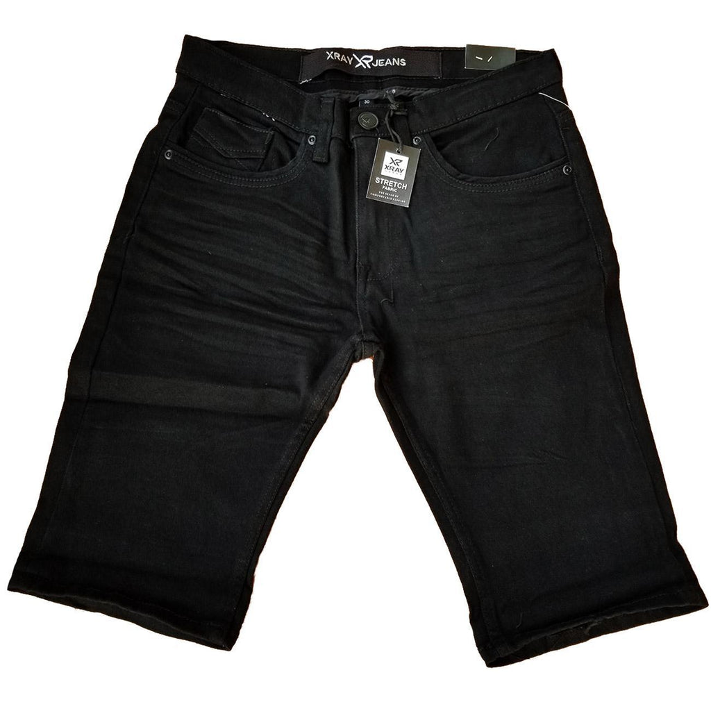 Solid Denim Shorts (Black)