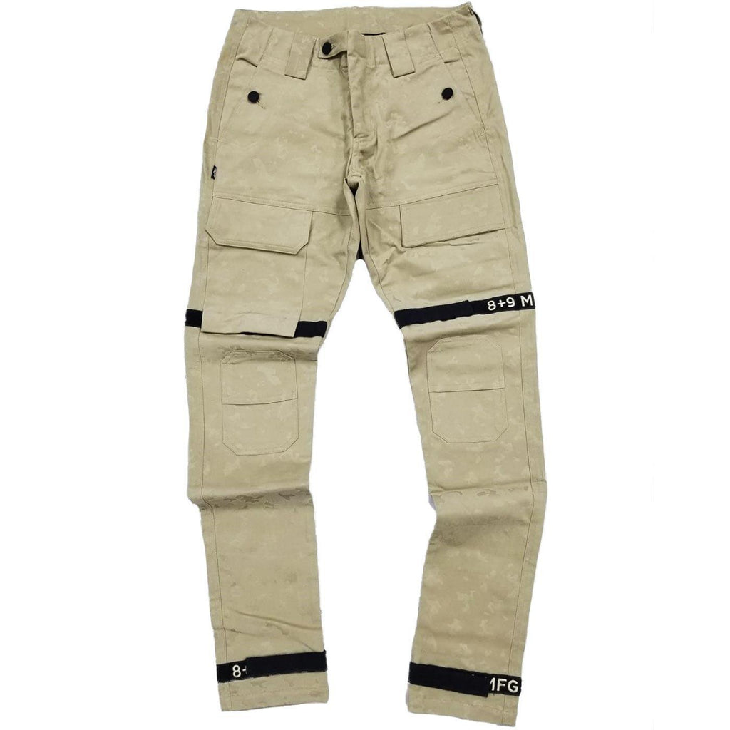 Strapped Up Slim Utility Pant (Sand Khaki) | 8 & 9 Clothing