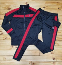 FILA Renzo Track Set (Black/Red)