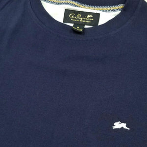 Evan Plain T-Shirt (Navy) Detail | A. Tiziano