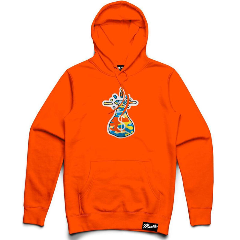 Multi Money Bag Patch Hoodie (Safety Orange)