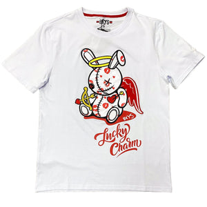Lucky Angel Tee (White) | BKYS Black Keys