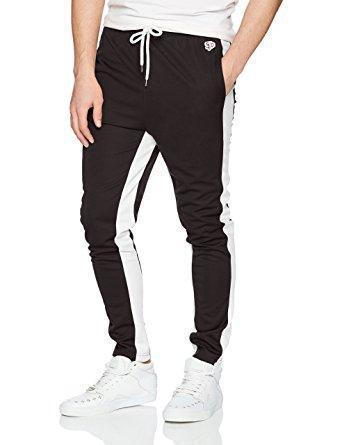 Skinny Track Pants (Black/White)