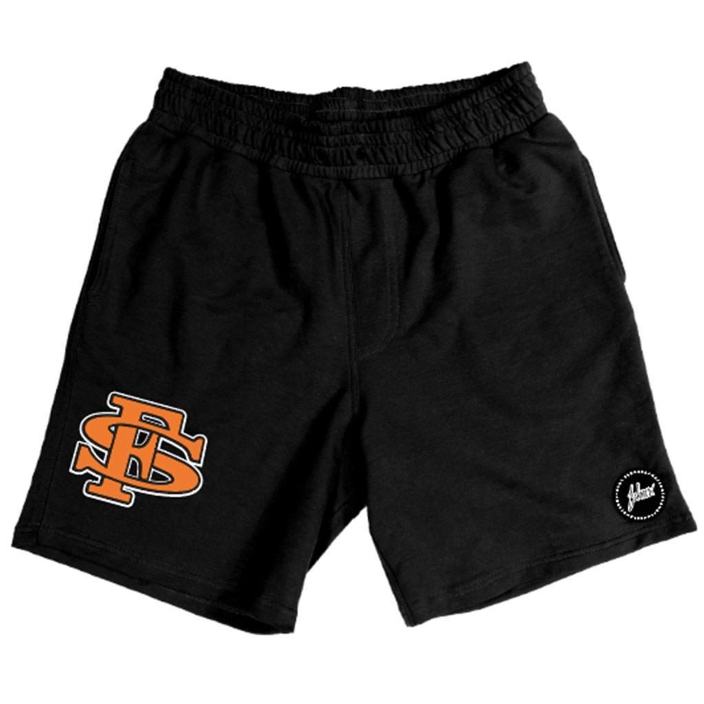 Stadium Hybrid Shorts (Black/Orange) | FSHNS Brand