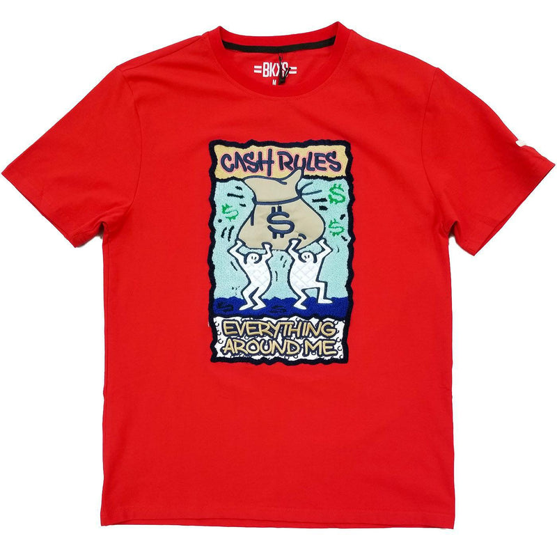 Cream Tee (Red) | BKYS Black Keys