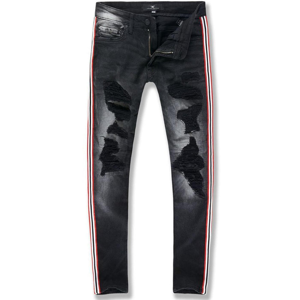 Sean Saratoga Striped Denim (Black Shadow)