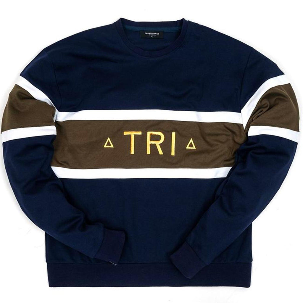 Triangulo Swag Tri Crewneck (Navy/Green)