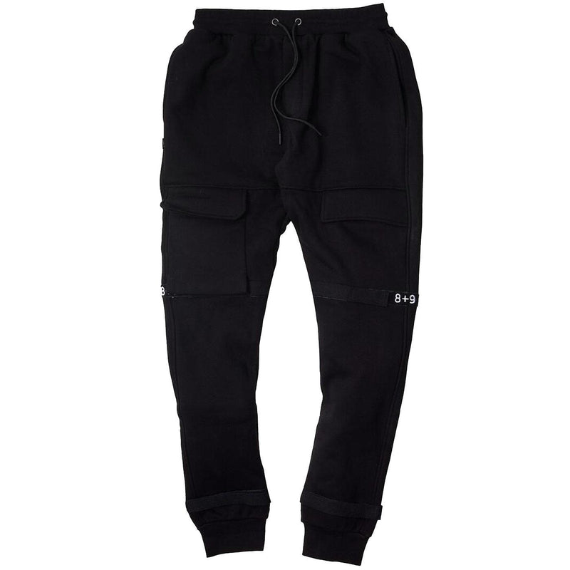 Strapped Up Fleece Sweatpants (Black)