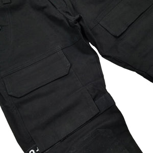 Strapped Up Slim Utility Pant (Black/White) Detail | 8 & 9 Clothing