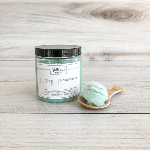 Emulsified Sugar Scrub- Gingham