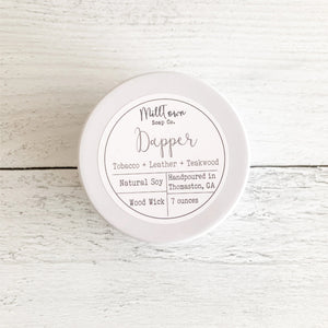 Dapper Soy Candle Tin