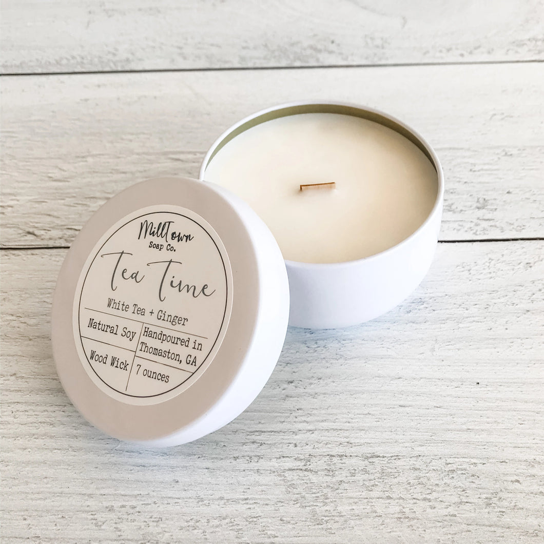 Tea Time Soy Candle Tin