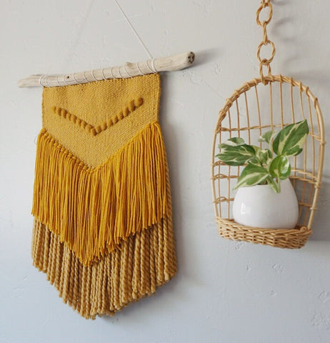 Mustard Yellow Woven Wall Hanging