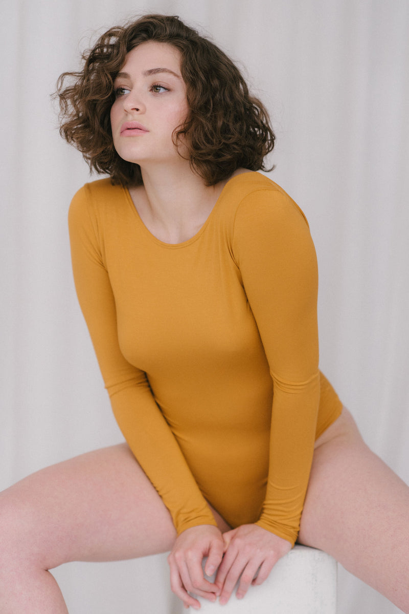 Teva Bodysuit in Mustard
