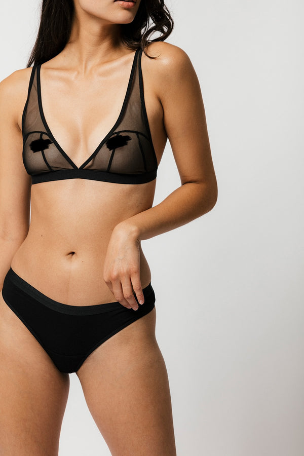 Emery Thong in Solid Black