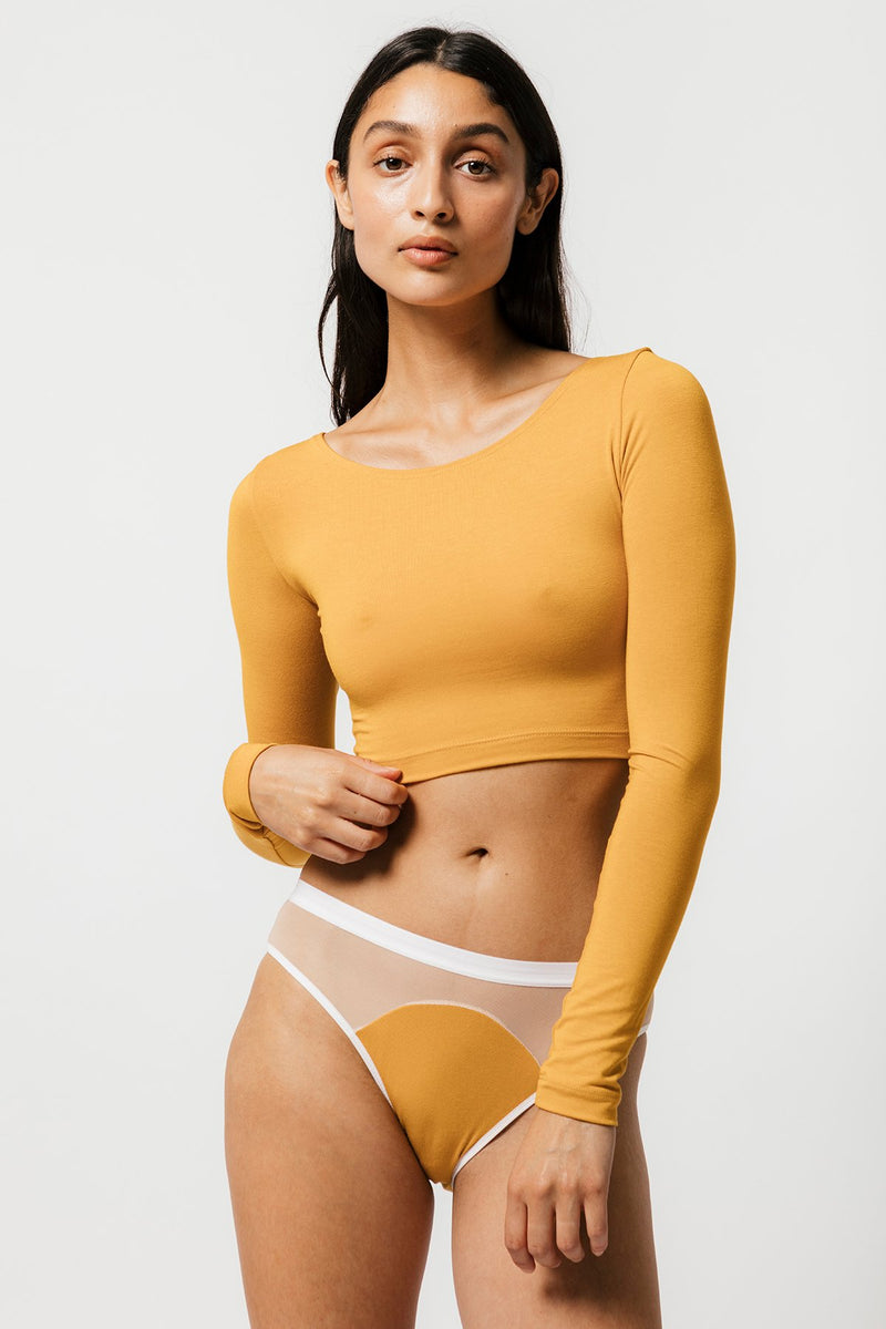 Skye Crop in Mustard