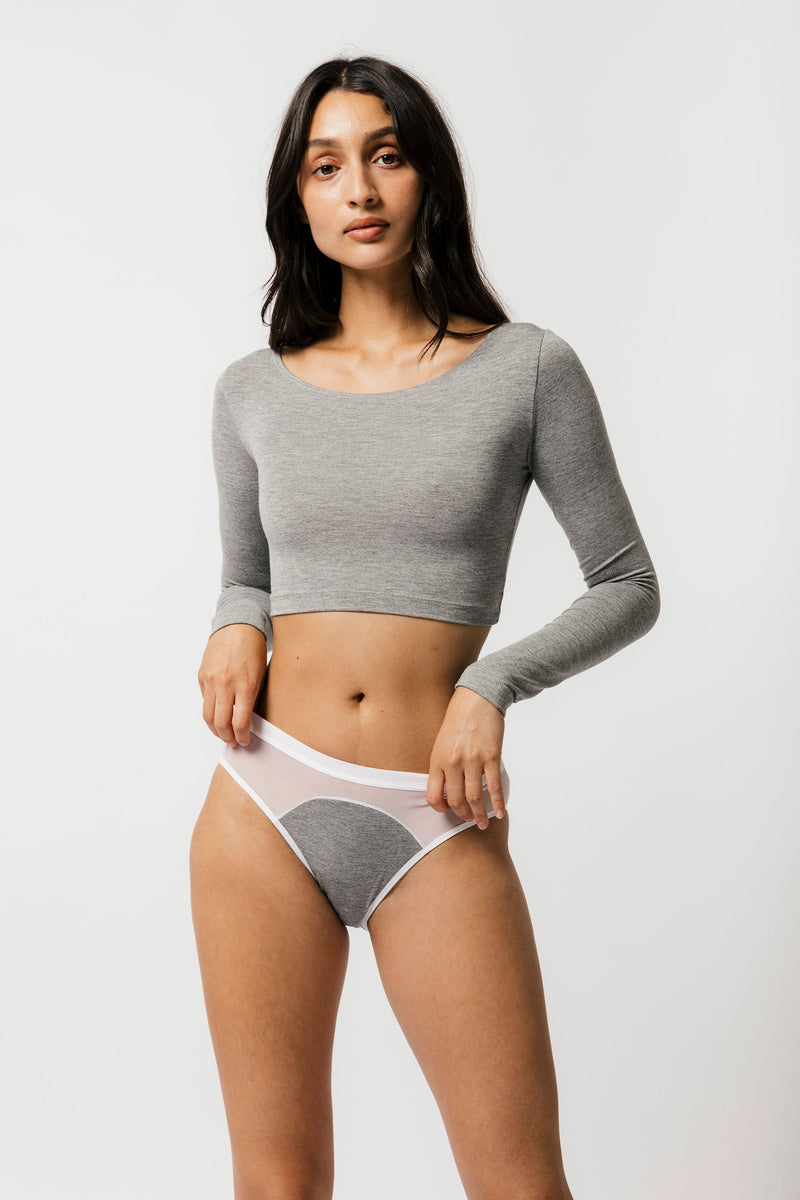 Skye Crop in Grey