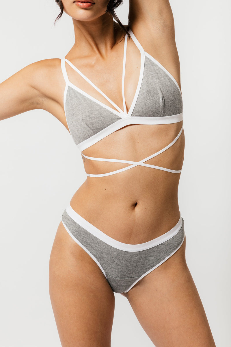 Emery Thong in Solid Grey