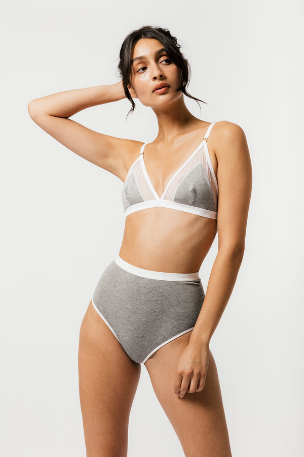 Contrast Bra in Grey