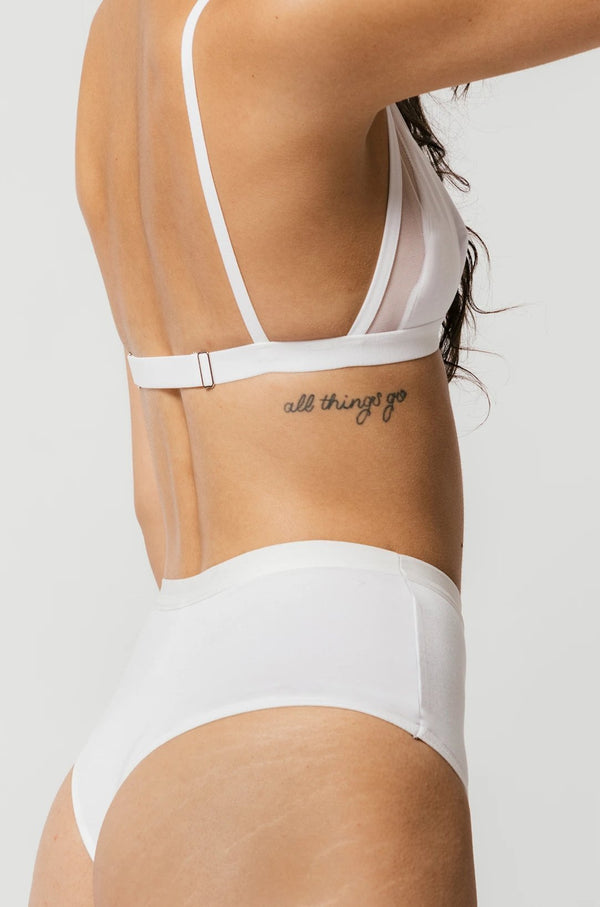 High Waist Thong in White