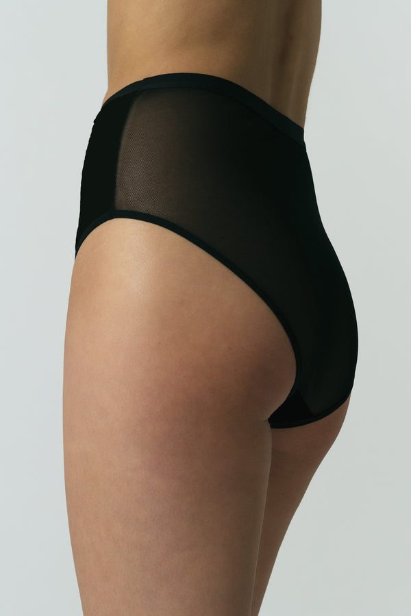 Lux High Waist Brief in Black
