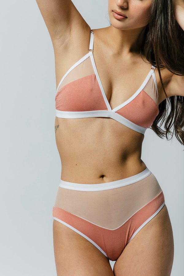 Logan Bra in Rose