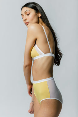 Lux High Waist Brief in Banana
