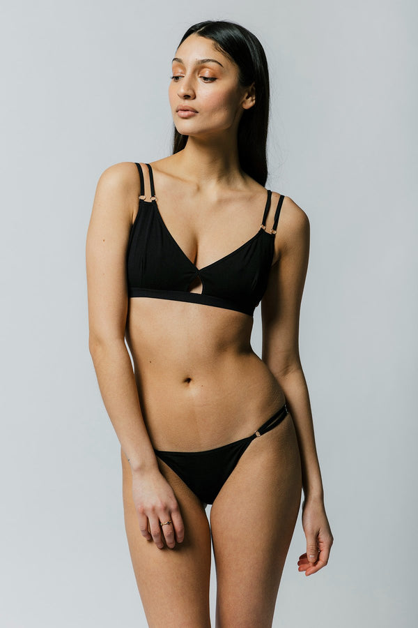 Hayes Hip Bikini in Black Sample