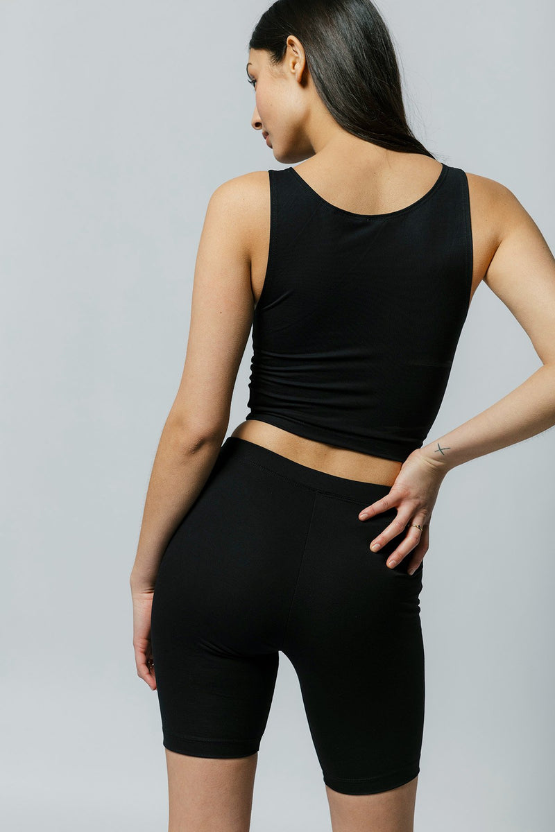 Wallace Crop in Black